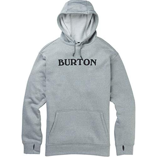 Burton Felpa Cappuccio Uomo Oak PO HORIZ Logo Gray Heather S
