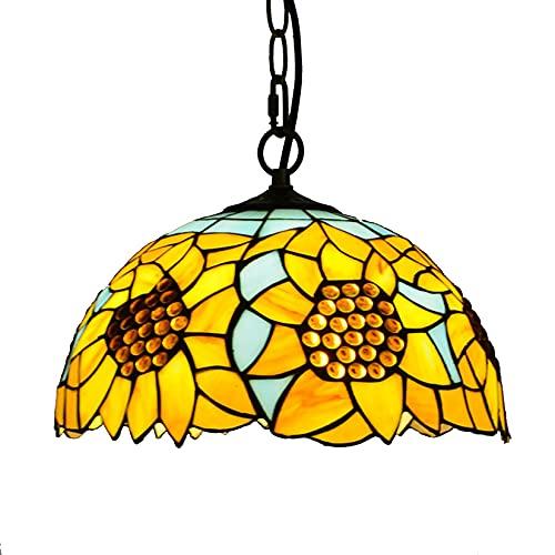 SLJJC Lampada da soffitto a soffitto a soffitto a soffitto a 12 Pollici in Vetro colorato in Stile Tiffany in Vetro (Color : Sunflower)