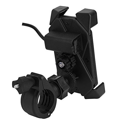 Motorfiets ATV-stuur E-montagestandaard, telefoonhouder Stevig en duurzaam met USB-oplader voor GPS voor mobiele…