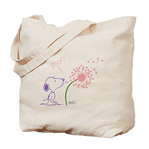 CafePress Snoopy Dandelion Natural Canvas Tote Bag, Reusable Shopping Bag