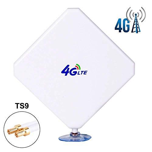 TS9 4G Hochleistungs LTE Antenne 35dBi Netzwerk Ethernet Verstärker-Antenne Richtantenne Signalverstärker Verstärker für Huawei E5372 E398 E3276 E392 E3272 E8278 R212 MF93 R215,Vodafone R215 etc