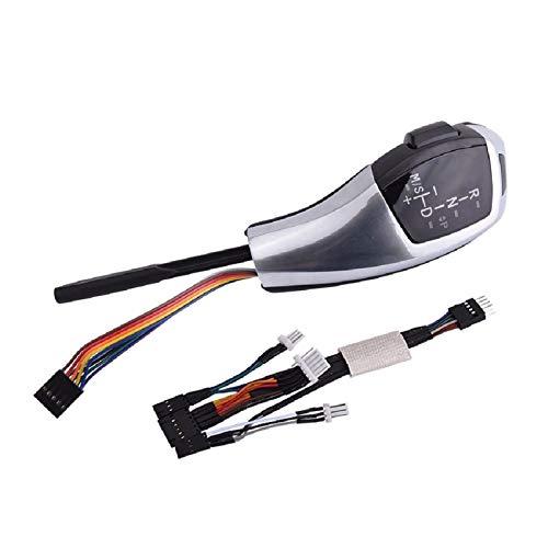 HZJA Auto Schaltknauf Schalthebel Automatik-Gangschaltung Für BMW E39 E53 E46 E60 E61 E90 E92 E93 E87 E83 X3 Mit Lichtern Schaltknauf (Color : E93 E87 Silver)