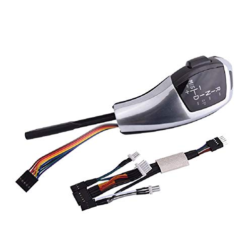 OutdoorKing Schaltsteuerung knopfkopf Auto Schaltknauf Schalthebel Automatik-Gangschaltung Für BMW E39 E53 E46 E60 E61 E90 E92 E93 E87 E83 X3 Mit Lichtern Auto Schaltknauf (Color : E83 X3 Silver)