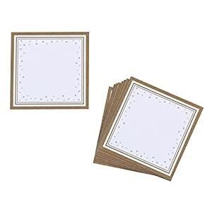 10 x Place Cards for Baubles 'Winter Wonderland' Gold