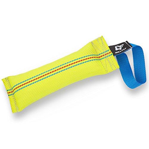 Bull Fit Beisswurst für Hunde, 30 cm mit Handschlaufe - Sehr robustes Hundespielzeug zum K9 Training, Tauziehen und Zerrspiele mit Hund - Aus hochwertigem Feuerwehrschlauch handgefertigt, Schwimmfähig