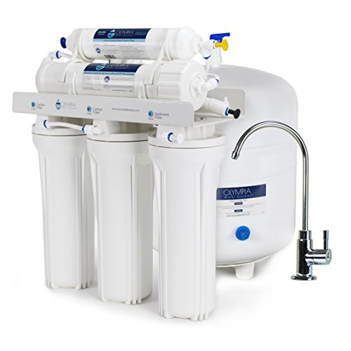 Olympia Water Systems OROS-50 5-Stage Reverse Osmosis Water Filtration System with 50GPD Membrane -...