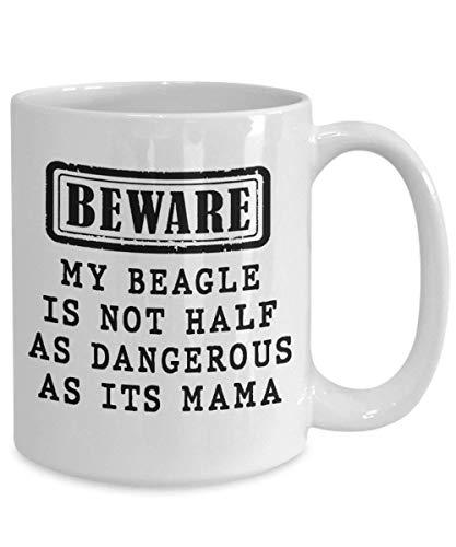 N\A Beagle Coffee Mug Beware Dog Owner Gift Dog Mom Mug Regalo para Dog Lover, Beagle Mom, Beagle Gifts, Beagle Dad, Beagle Dog Unique Gift Novedad Taza de café de cerámica Taza de té Blanco
