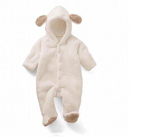 Coral terciopelo sección delgada de ropa de invierno bebé mameluco tamaño 100cm (oveja)