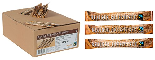 2x Fairtrade Hellma - Brauner Rohrzucker Zuckersticks - 900g