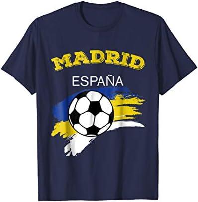 madrid spain spanish tee shirts soccer ball Espana T shirt product image