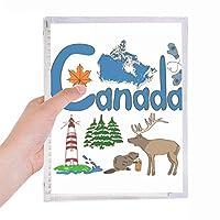 カナダの国家の象徴のランドマークのパターン 硬質プラスチックルーズリーフノートノート