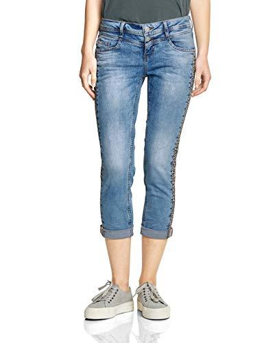 Street One Damen 372130 Crissi Slim Jeans, Authentic Light Blue Washed, 27W/26L