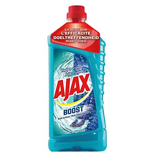 AJAX Boost - Limpiador multisuperficies vinagre y lavanda (1,25 L, 6 unidades)
