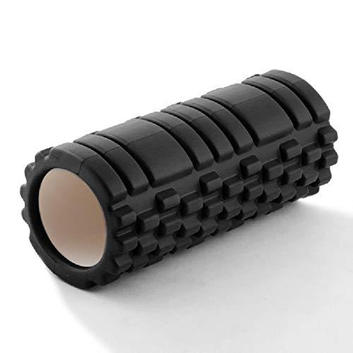 ADAFY Bloque de Yoga Hueco Equipo de Fitness Pilates Rodillo de Espuma Fitness Ejercicios de Gimnasio EVA Masaje Muscular Rodillo de relajación Yoga Brick 9.5 * 30-Silver