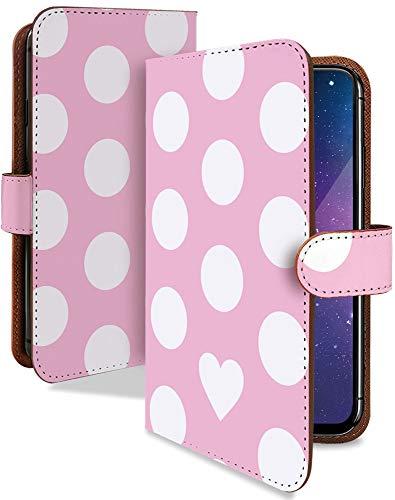 iPhone11 ケース 手帳型 携帯ケース コインドット 白 ピンク 水玉 ドット おしゃれ アイフォン アイフォーン アイホン スマホケース 携帯カバー iPhone11 iPhone 11 総柄 カメラレンズ全面保護 カード収納付き 全機種対応 t0