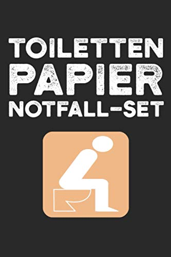 Toilettenpapier Notfall Set: 100 Seiten | Punkteraster | Klopapier Set Lockdown Geschenk Weihnachten Lustig Toilette 2020 Papier Weihnachtsgeschenk Notfallset Notfall Klo