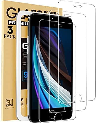 MONOOC Compatibile con iPhone Se 2020 Screen Protector, per iPhone 8/7 e iPhone 6/6S Screen Protector Tempered Glass 4.7 inch 3-Pack