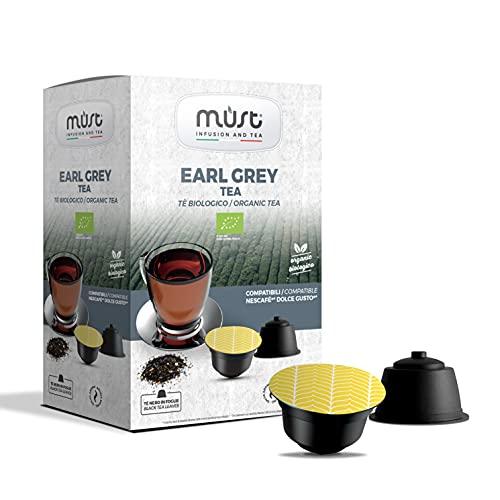 MUST 96 BIO SCHWARZER TEE Kapseln Selbstgeschützt aus 100% Recycelbarem Kunststoff, EARLY GREY TEA Mischpackung mit 16…