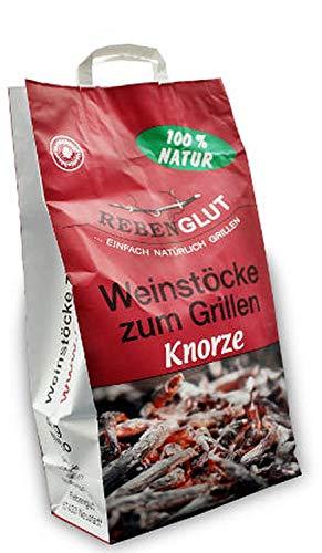 Rebenglut Grillholz Weinstöcke Knorzen zum Grillen 3 x 4,0 kg