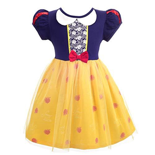 Lito Angels Niñas Bebé Disfraz de Princesa Blancanieves Disfraces Fiesta de cumpleaños de Halloween Ropa Casual Vestido Talla 12-18 Meses