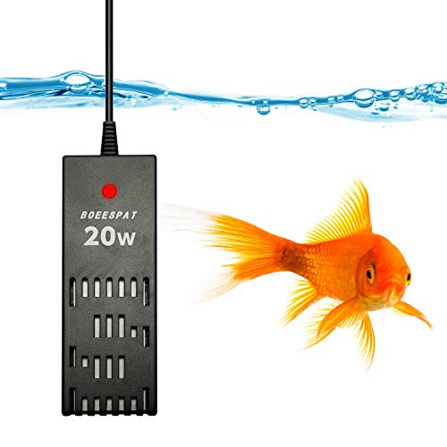 BOEESPAT Smart Betta Fish Tank Heater 20W Mini Fish Tank Heater with Electronic Thermostat
