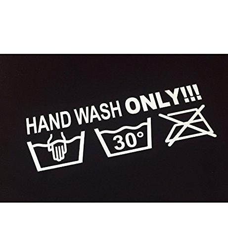 Schönheits Shop Hand wash only Shocker Dapper Auto Aufkleber Sticker Tuning stickerbomb Turbo
