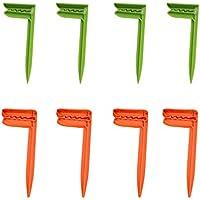 Yeelan Pinzas Toalla de Playa Beach Towel Clips de Toalla de Playa Manta Picnic Fijar Clavijas (Verde + Naranja)
