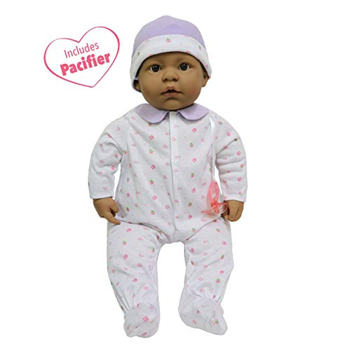 JC Toys, La Baby Hispanic 20-inch Soft Body in Purple Play Doll - For Children 2 Years Or Older, Designed by Berenguer