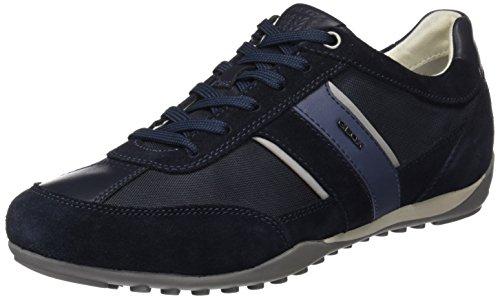 Geox U Wells C, Zapatillas para Hombre, Azul (Dark Navy), 45 EU