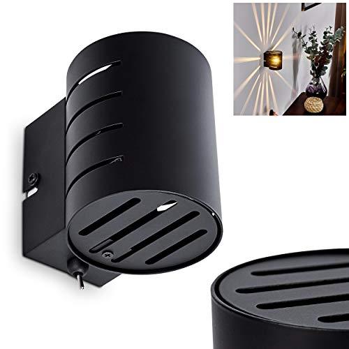 Wandleuchte Ponte, moderne Wandlampe aus Metall in Schwarz, Innenleuchte mit Up & Down Lichteffekt, An-/Ausschalter am Gehäuse, 1-flammig, 1 x G9 max. 28 Watt, geeignet für LED Leuchtmittel