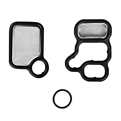 NDRUSH VVT Solenoid Gasket Valve Cover Set Compatible With Honda Civic Accord CR-V Element Fit,Acura RSX TSX