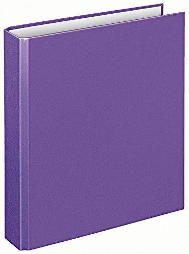 Veloflex 1151070 Ringordner Basic, Ringbuch, Ordner, DIN A5, 2-Ring-Mechanik, 196 x 230 x 30, Karton, lila