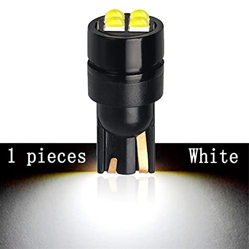 ScottDecor Lámpara 1x LED CANBUS W5W 12V 6000K White NINGÚN Error Super Super SPROPLE T10 LED Luz Light Light Liz Placa Lámparas (Emitting Color : 1 Pieces White)