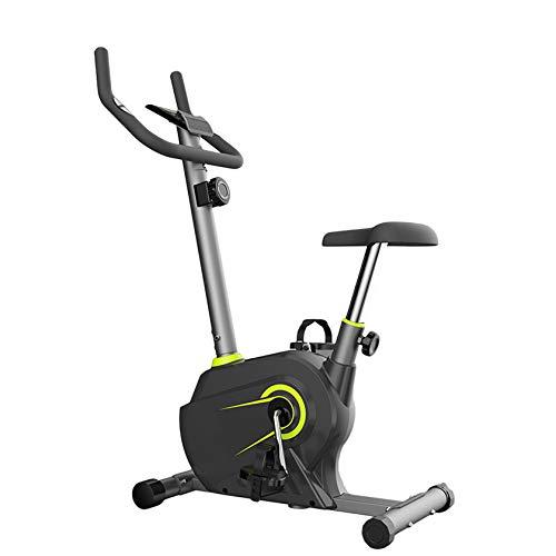 PHASFBJ Vélos d'intérieur, vélos d'exercice à Commande magnétique, vélos stationnaires avec Grand écran LCD, Qui Peuvent être utilisés pour l'entraînement aérobique à Domicile,Vert