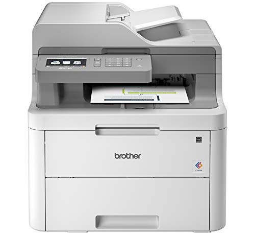 Brother MFC-L3710CW Compact Digital Color All-in-One Printer Providing Laser Printer Quality Results...