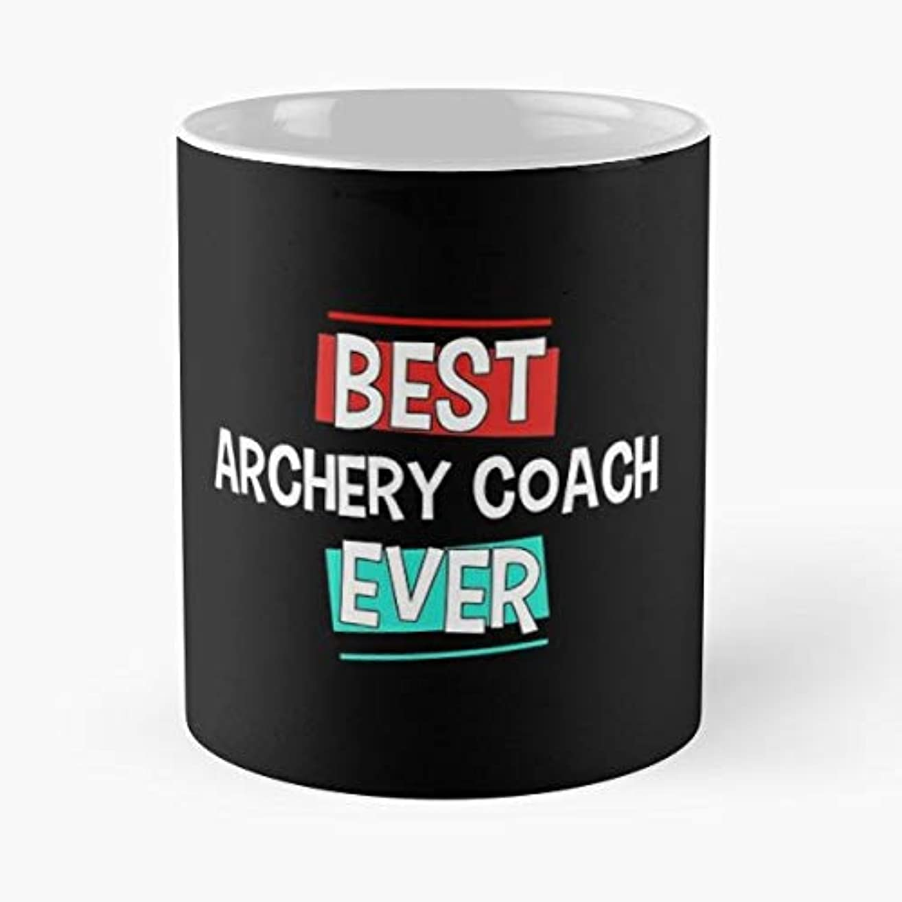 Archer Archery Coaching Coach - 11oz Novetly Ceramic Cups, Unique Birthday And Holiday Gifts For Mom Mother Wife Women.