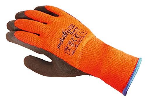 (6 Paar) TOWA Handschuhe Winterhandschuhe PowerGrab Thermo 6 x orange/braun 9