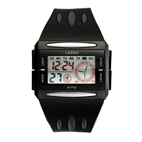Lancardo Orologio Elettronico da Polso Uomo Quadrante Display Digitale Multifunzione Impermeabile cinturino Plastica Nero