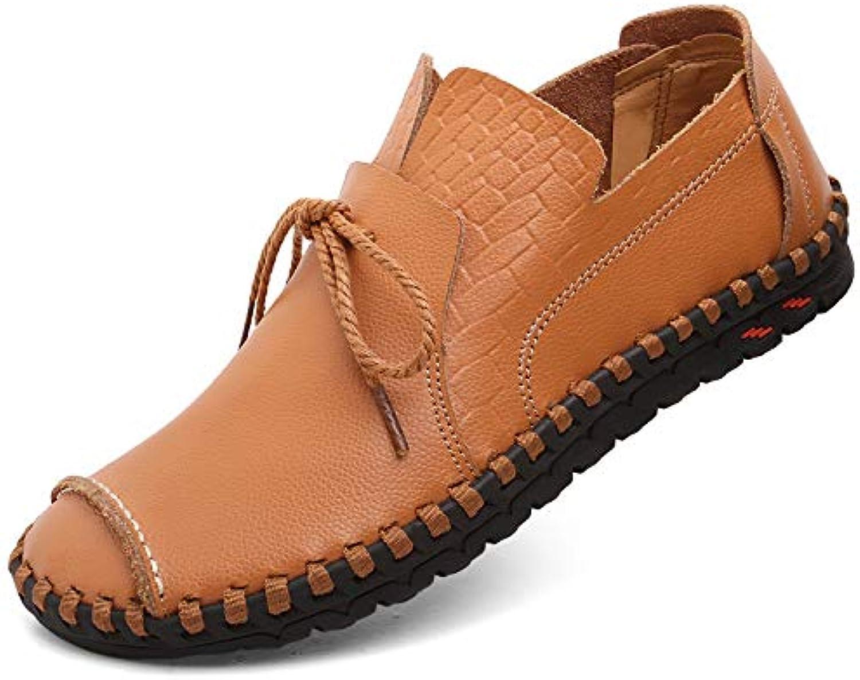 LOVDRAM Casual shoes Men'S Casual shoes Autumn New Men'S shoes Pu Leather shoes Men'S Casual shoes Men'S Lace