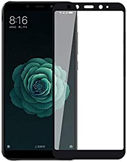 5D Tempered Glass for Xiaomi Mi A2 & Mi 6X Full Screen Protector - Black Frame