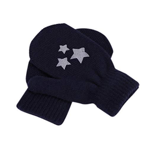 Guantes para niños de invierno gruesos, antiarañazos, guantes de punto de lana, guantes, suaves y cálidos, ideales como regalo de Navidad, para bebé, niñas, niños y niñas de 1 a 4 años