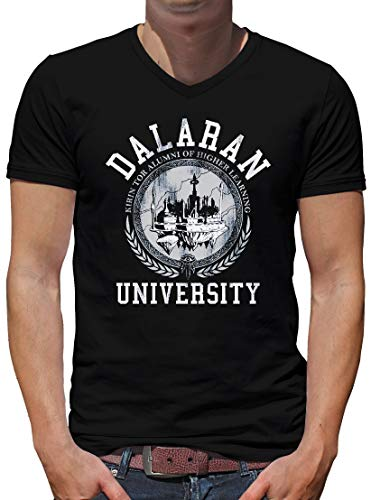 TShirt-People Dalaran University V-Kragen T-Shirt Herren Wow Nerd Gamer L Schwarz