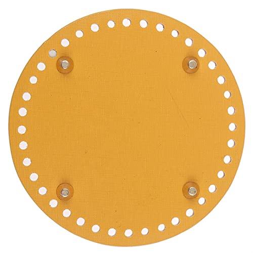 sdfpj 5PCS Suministros Bolsa Bolsa de Ganchillo de Cuero Redondo Fabricación de Ganchillo Fabricación Fondo Matón Cojín Monedero Base Inferior (Color : Yellow)