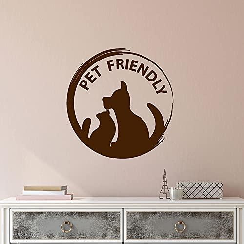 Calcomanía de pared que admite mascotas, palabra de animal, gato, perro, logotipo, cafetería, tienda de mascotas, decoración de interiores, vinilo, puerta, ventana, pegatina, papel tapiz artístico