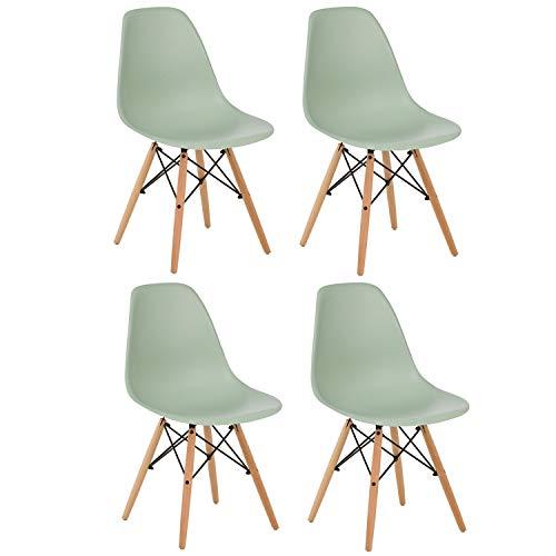 Brigros - Sedie da Cucina 4 Pezzi Verdi, sedie Moderne Design, sedie Verdi scandinave,...
