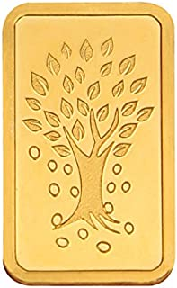 Kundan 24k (999.9) Kalpataru Tree 5 gm Yellow Gold Coin