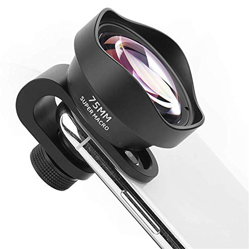 Phone Camera Lens, Universal HD 75Mm Camera Lens Kit Macro And Wide Angle Lens With LED Light And Travel Case