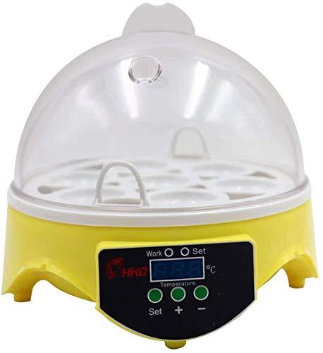 Incubadora electrónica digital de 7 huevos, control de temperatura para gallinas, patos, codornices