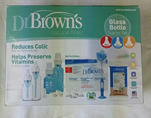 Read About Dr. Brown's Natural Flow Standard Glass Bottles, 8 Ounce, 2-Count (Glass Gift Set)