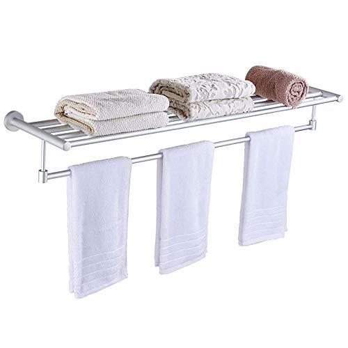 ZXL Handdoekhouder, handdoekhouder, aluminium, badkamer, handdoekhouder, double plafond, wandhouder, 70 cm gaten